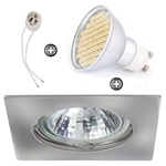 ZESTAW LED 80 SMD CT20 na 230V GU10 chrom