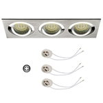 Oprawka sufitowa do LED GU10 230V CT61-3 inox