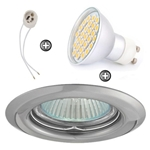 ZESTAW LED 40 SMD CT14 na 230V GU10 chrom