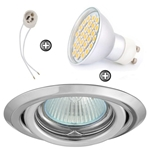 ZESTAW LED 40 SMD CT15 na 230V GU10 chrom
