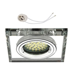 Oprawka szklana do LED GU10 230V CT73P