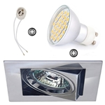 ZESTAW LED 40 SMD CT12 na 230V GU10 chrom