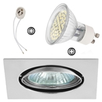 ZESTAW LED 48 SMD CT22 na 230V GU10 chrom