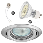 ZESTAW LED 48 SMD CT15 na 230V GU10 chrom