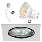 ZESTAW LED 40 SMD CT22 na 230V GU10 chrom