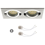 Oprawka sufitowa do LED GU10 230V CT61-2 inox