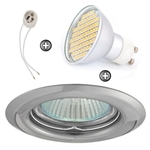 ZESTAW LED 80 SMD CT14 na 230V GU10 chrom