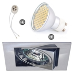 ZESTAW LED 80 SMD CT12 na 230V GU10 chrom