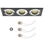 Oprawka sufitowa do LED GU10 230V CT63-3 inox