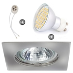 ZESTAW LED 40 SMD CT20 na 230V GU10 chrom