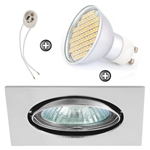 ZESTAW LED 80 SMD CT22 na 230V GU10 chrom