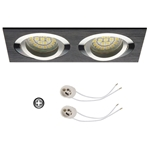 Oprawka sufitowa do LED GU10 230V CT63-2 inox