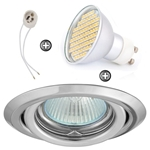 ZESTAW LED 80 SMD CT15 na 230V GU10 chrom
